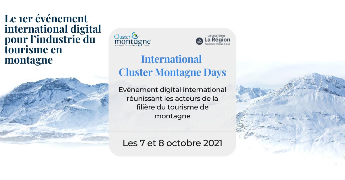 #croissance | Inscrivez-vous aux International Cluster Montagne Days ->